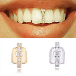 Single Rock Rapper Crystal Grills Tooth Cap Teeth Decor Hip Hop Cosplay Jewelry