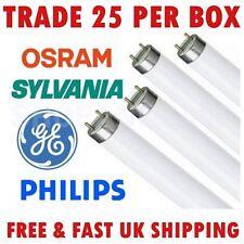 Box 25x QUALITY BRANDED 2ft T8 Daylight White Fluorescent Tube 18W 865 6500K G13
