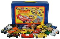 Lot of 20 Matchbox Lesney Die Cast Toy Cars & Official Matchbox Collectors Case