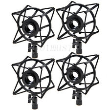 4 * Spider Shock Mount Condenser Microphone Holder to avoid Vibrations Black