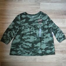 Girls Camouflage Tee Shirt Long sleeve size Xl 14 Old Navy baby doll New kids
