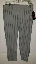 A-Star gray Green Pinstripe Polyester Baseball Pants. Youth Xl Nwt