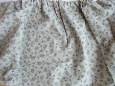 """Lovely Ralph Lauren """"Josephine"""" Full Bed Skirt Dust Ruffle Green Blue Flowers"""