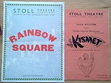 Selection of individual Stoll Theatre programmes 1950s, West End programme