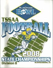 2008 Tennessee State Football Division II Championships Program