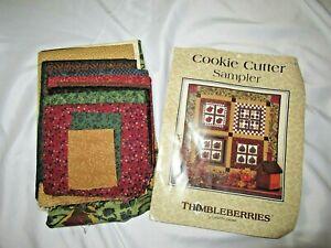 "Thimbleberries Cookie Cutter Sampler quilt kit fabrics 44"" stars trees apples +"
