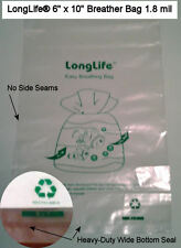 10 - 6 X 10 LongLife® Breather Bags + Kordon Alternative & Usa Seller +