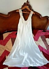Nightdress The Collection Cream Soft Liquid Satin Polyester Size 12 Lace (T12)