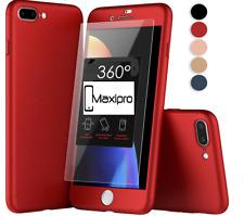 IPhone Cuerpo Completo 360 ° Funda Cubierta y claro vidrio templado iPhone 5 6 7 8 Plus SE