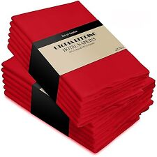 12pc Quality RED Soft COTTON Reusable DINNER NAPKINS Easter Holiday TABLE DECOR