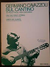 CAVAZZOLI - Sul cantino, 15 pezzi facili per chitarra - ed Ricordi