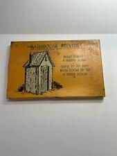 Vintage Novelty Bathroom Brevities Signs