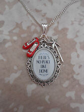 HANDMADE WIZARD OF OZ 'THERE'S NO PLACE LIKE HOME' CHARMS NECKLACE NECKLACE