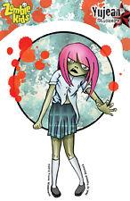 Zombie Kids - Cassandra - school girl sticker decal weather resistant