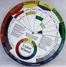 Large Artist's Color Wheel & Mixing Guide, Visual Tool and Color Mixing Guide