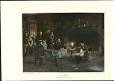 "1897 Napoleon Bonaparte "" It Is He "" Candle Light Fireplace Sitting COLOR PRINT"