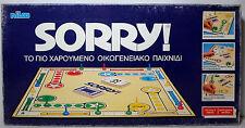 Nilco Vtg 80's Sorry ! Greek Board Game # 4423 Mip Vhtf New Rare