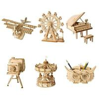 3D Holzpuzzle Riesenrad Holz Handwerk Modellbausätze Selbstmontage Spielzeug