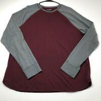 Goodfellow Standard Men's Raglan T Shirt XL Extra Large Gray Maroon Casual