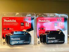 (2-Pack) Plastic Sealed Makita 6.0AH 18v Li-ion battery BL1860B W/ LED Indicator
