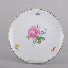 Meissen Red Rose & Forget-me-not, Plate, 25,5 cm, Pfeiffer era, First Quality