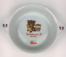 Rilakkuma Dish Plate Bowl 2010 San-X Joshin Bonjour France French
