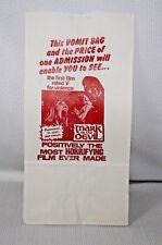 """Vintage 1970's Mark Of The Devil """"VOMIT BAG""""  Mint NOS Original Movie Promo"""