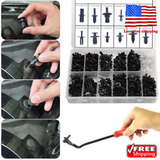 350Pcs Car Body Plastic Push Pin Rivet Screwdriver Fasteners Trim Moulding Clip