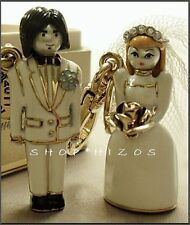 RARE AUTHENTIC JUICY COUTURE LIMITED EDITION 2011 BRIDE AND GROOM CHARM SET NIB