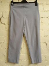"ROMAN bengaline trousers, size 16 (22"" leg), light grey, stretch, elastic waist"