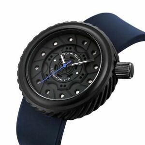 Race Watch Original Car Wheel Design Silicone Wristband Analog Quartz Movement