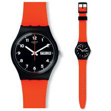 SWATCH ROUGE Grin Montre gb754 Analogue Silicone Orange
