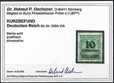 Korbdeckel MiNr. 336AWb postfrisch mit KURZBEFUND