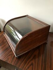 Edwardian Mahogany Counter Top Glass Display Case With Key