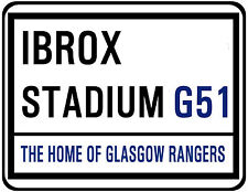 GLASGOW RANGERS F.C. STREET SIGN ON MOUSE MAT / PAD. IBROX STADIUM