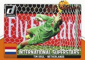 2015 Donruss Soccer 'International Superstars' #46 Tim Krul 149/299 Holland