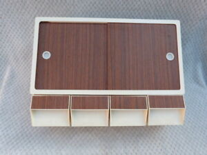 ORIGINAL SMALL VINTAGE 1960s PLASTIC KITCHEN WALL UNIT CUPBOARD FOUR DRAWERS