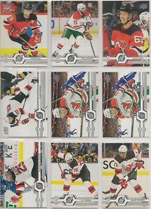 NEW JERSEY DEVILS ~ 2019-20 Upper Deck Team Lot / Set ~ 18 Hockey Cards HISCHIER