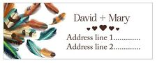 30 Personalized Custom Address Labels Feathers cute Stickers30 x Personalized Ad