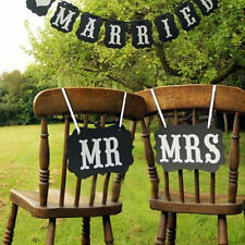 """""""Mr Mrs"""" Letter Photo Booth Garland Banner Wedding Party Photography Props"""