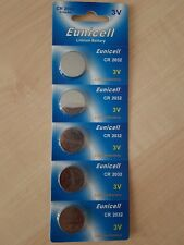 Eunicell CR 2032 3V Lithium Cell Batteries x 5