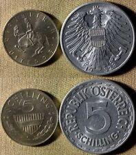 Austria : Lot 2 Coins 5 Sch. 1952 CH.AU;1969  Proof  #2879#2889a   IR3835