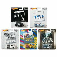 2019 Hot Wheels The Beatles Set of 5 Cars Pop Culture 1/64 Diecast Cars Vehicles