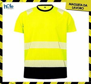 T shirt Maglietta da Lavoro Uomo Alta Visibilità Abbigliamento Caccia Pesca