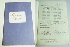 WERNER KRUMBEIN (1916-1997): Zeugnisse Realgymnasium WEIMAR 1928-1934