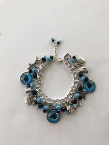 Carolina Panthers Jewelry - Chunky Charm Bracelet