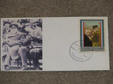 Churchill & DeGaulle on Airmail FDC by Fujeira