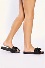 Womens Ladies Sliders Bow Summer Mules Flip Flops Slippers Shoes Size