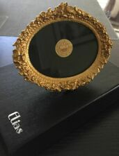 RARE Vintage Signed and Numbered NIB Elias 18K Gold Plated Oval Picture Frame