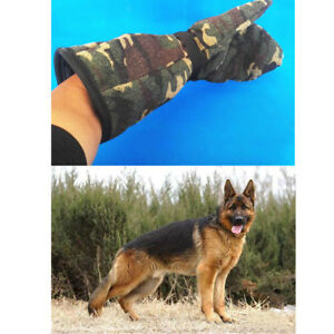 Camouflage Pet Dog Training and Catching Gloves Bite Proof